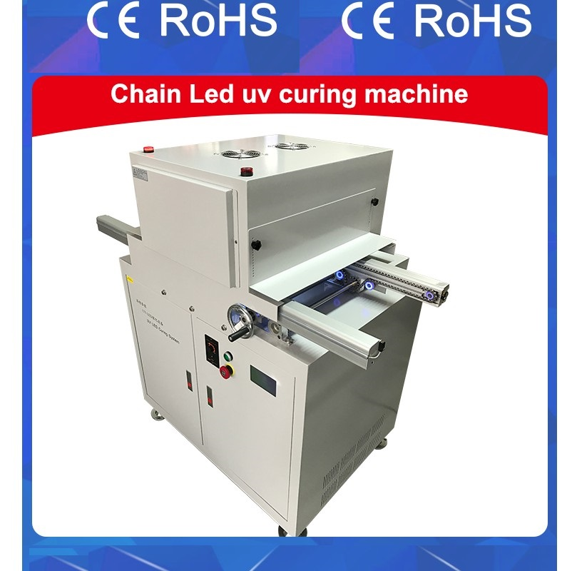 Chain Conveyor Belt UV LED Curing System