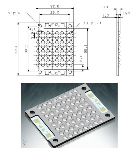 High Intensity UV LED Modules Chip