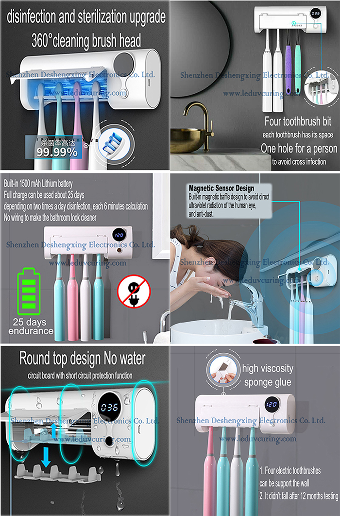 Intelligent Deep UV Toothbrush Sanitizer